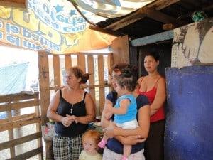 slum housing on the dump in Honduras