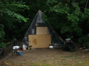 Hungary - living in a tent